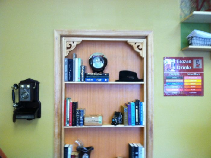 You see, BTB actually stands for behind the bookcase.