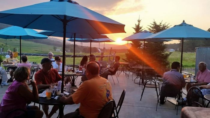 Sunset is by far the most magical time at Mountain State Brewing Company. The patio is a popular spot as the sun goes down, ending another marvelous day in Western Maryland.