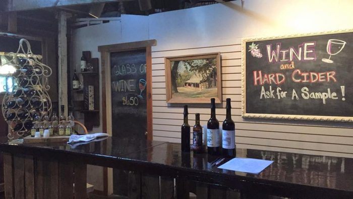 Try the wine and hard cider...