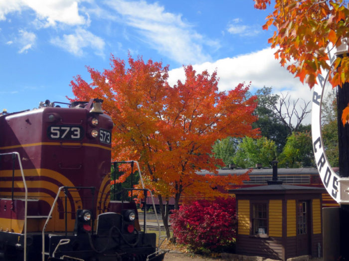 The Pumpkin Patch Express, operated by the Conway Scenic Railroad, runs the last two weekends in October, giving a New Hampshire fall experience that is perfect for the whole family.