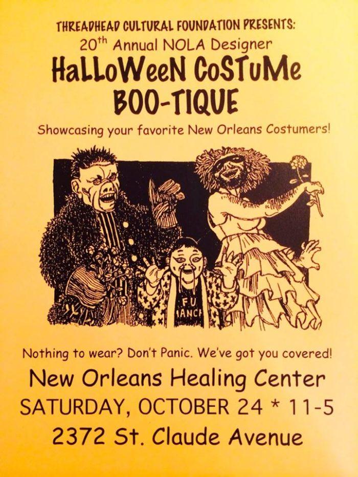 6. Designer Halloween Costume Boo-tique, New Orleans Healing Center, Marigny