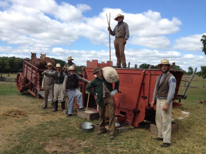 Outside, you'll learn how 19th century farmers tended to their gardens and animals.You'll get a chance to see how the land was harvested using traditional farm tools. You'll find no John Deere tractors here.