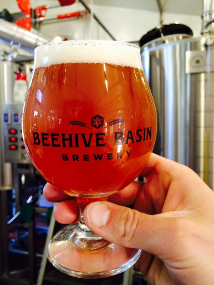 Start at the Beehive Basin Brewery in Big Sky.