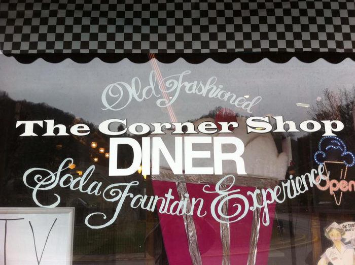 The Corner Shop provides an old-fashioned diner and soda fountain experience.