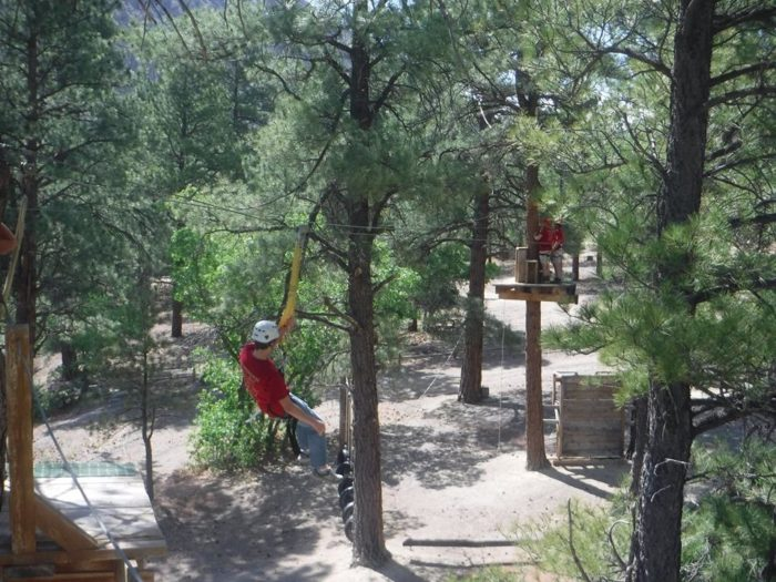 The canopy zipline and ropes course will challenge and entertain you.