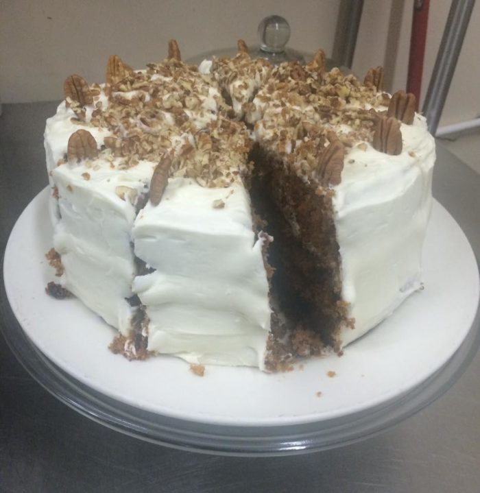 One of the Four Corner Cafe's other famous specialties is their carrot cake.