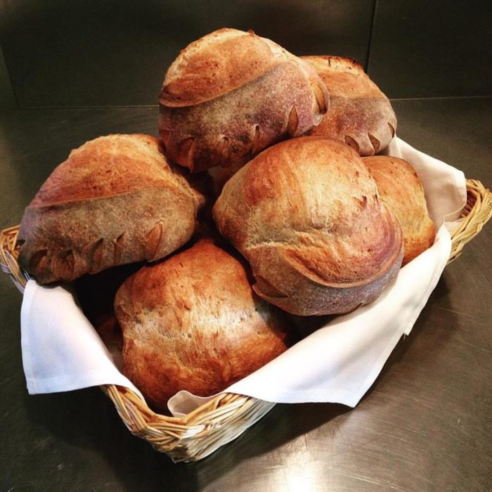 Housemade sourdough bread to start?  Don't mind if we do!