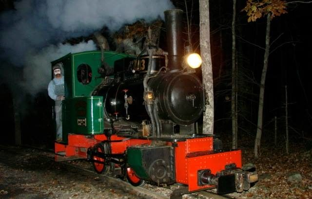 The train leaves the station for the spooky journey every 30 minutes.