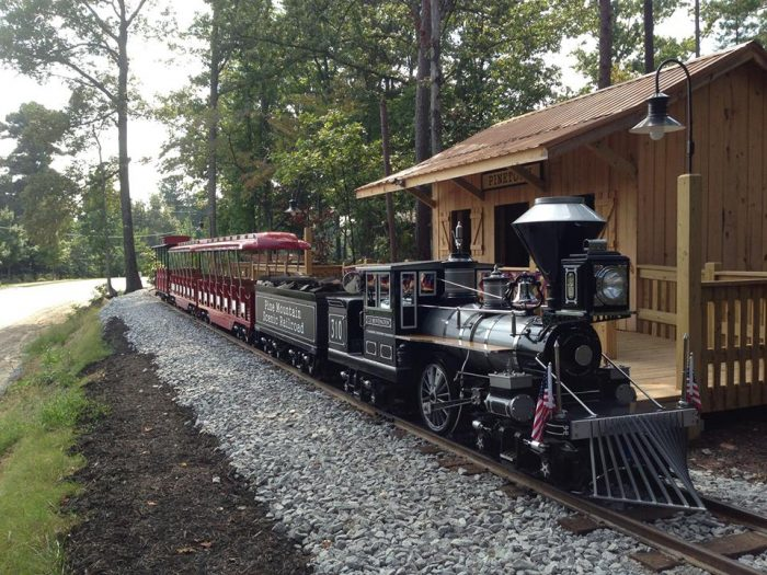 There is even a scenic train, perfect for a lovely ride through nature...except in the month of October.