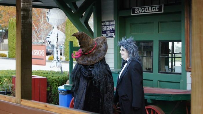 Once a year at Halloween, ghost and goblins arrive at the Village.