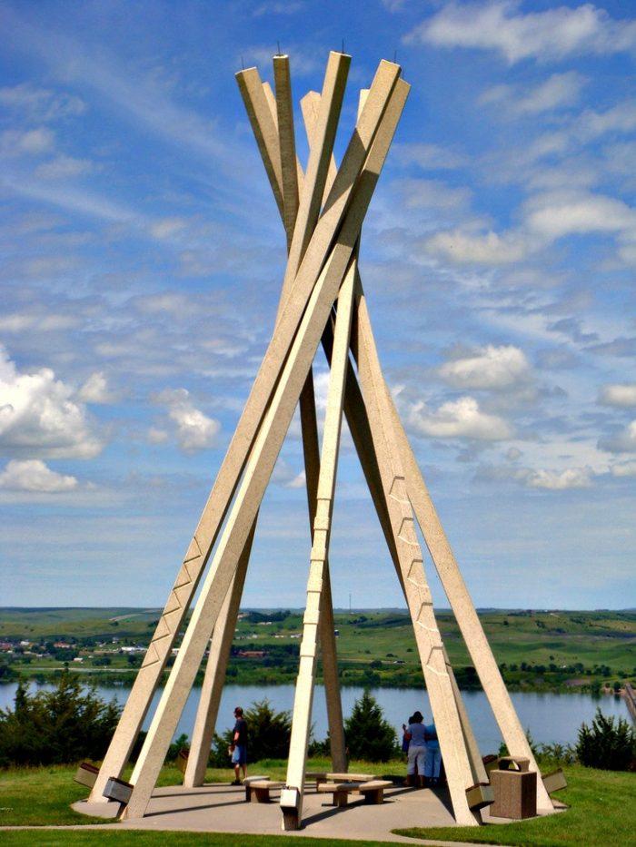 5. The Ward Whitman's concrete instate tipis along the rest stops of South Dakota.