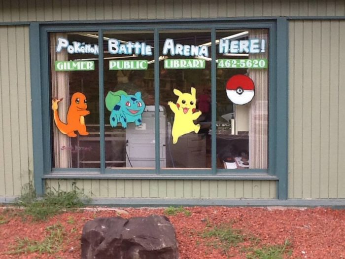 The public library has a spot for Pokemon fans.