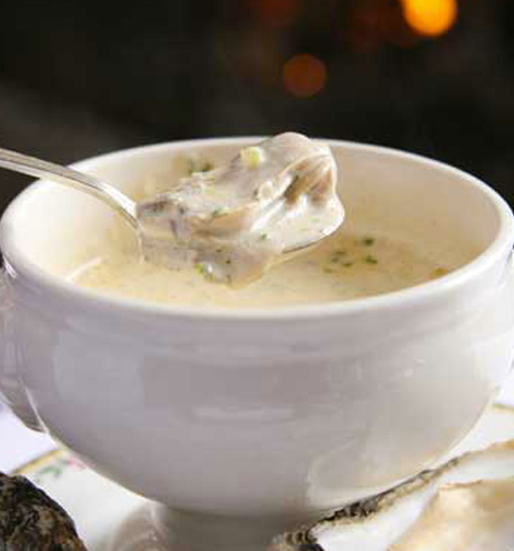 Start with the award-winning oyster stew. Its decadence is unrivaled.