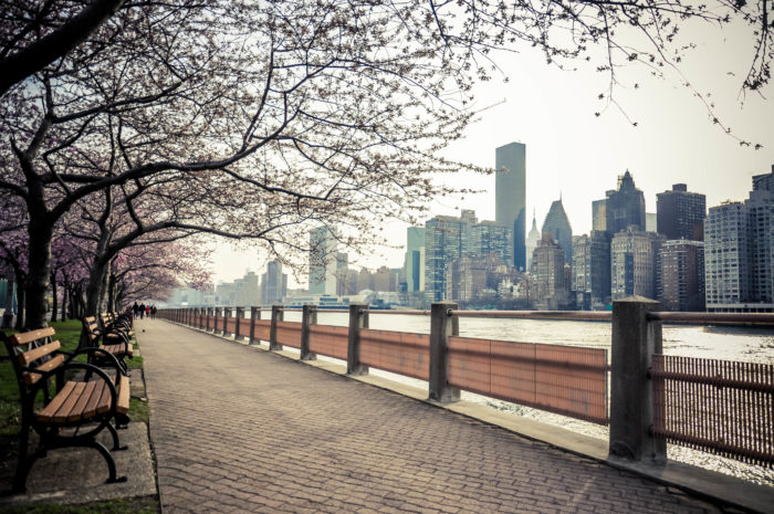 Those who get to call Roosevelt Island home have the pleasure of enjoying a beautiful pathway that wraps around the island, giving them amazing views of our city skylines.