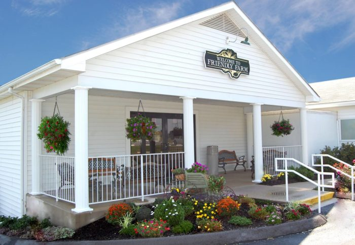 Take a closer look, and you'll discover a charming eatery on the premises known as Friendly Farm Restaurant.