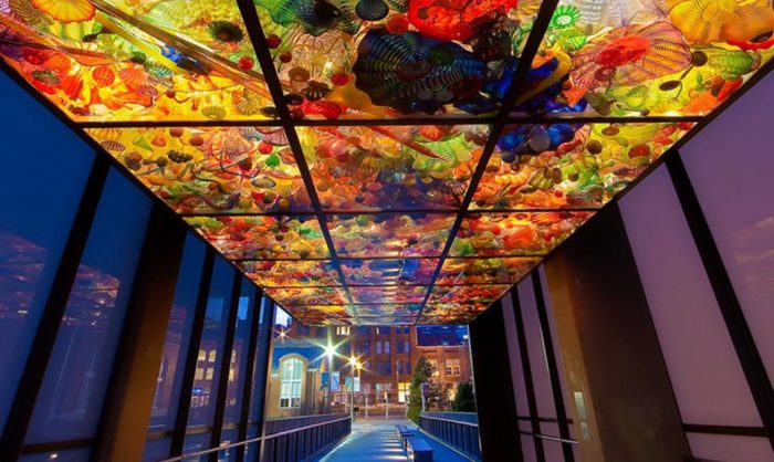 Don't miss the gorgeous Chihuly Bridge of Glass that connects the building to the Museum of Glass.