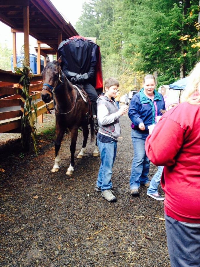 Keep your eyes open on this train ride. The headless horseman likes to sneak up on people.