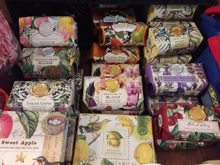 You'll also find indulgent gifts for grown-ups, like these beautiful soaps.
