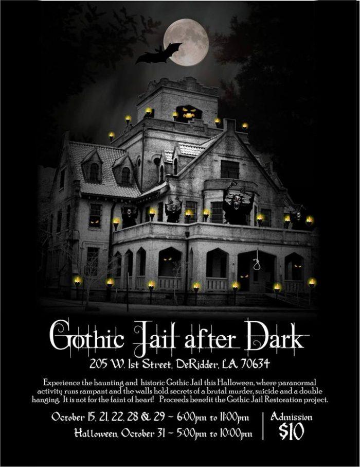 9. Gothic Jail After Dark, 205 W. 1st Street, DeRidder