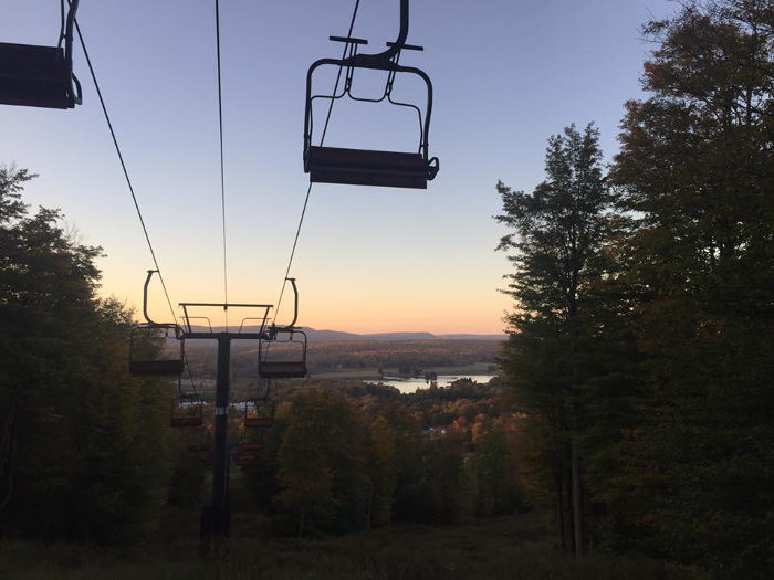 You can take a scenic chairlift ride on Saturdays and Sundays through the end of October.