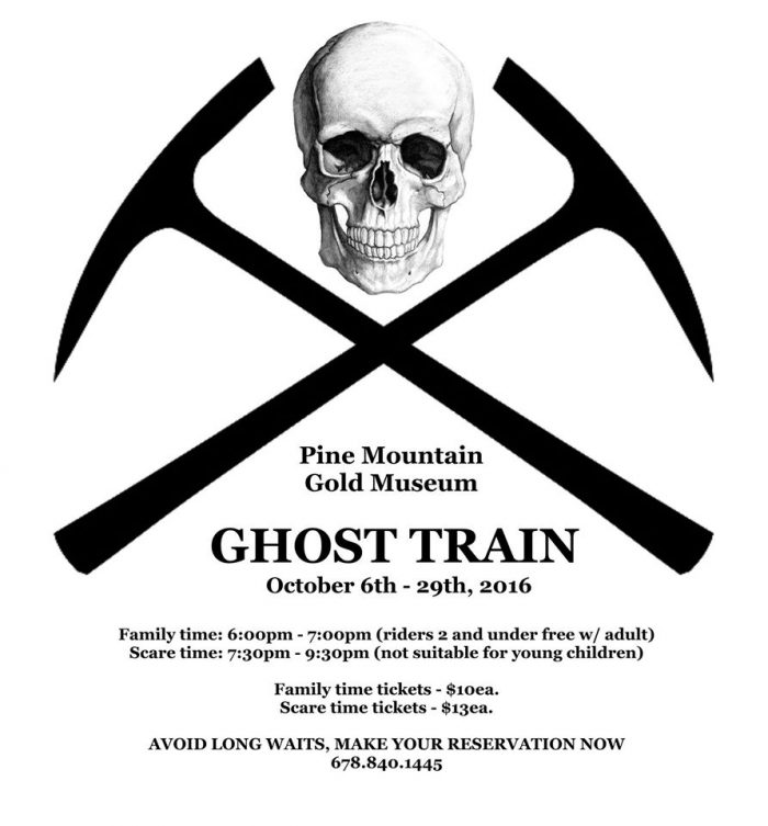 Are you brave enough to ride the ghost train?