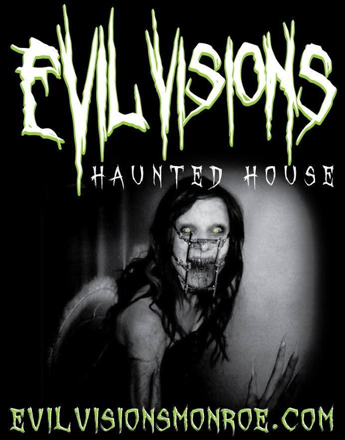 10. Evil Visions Haunted House, 501 Desiard St., Monroe, LA