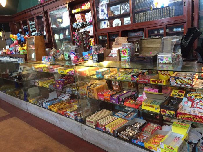 There's a giant candy counter that will make you feel like a kid again.