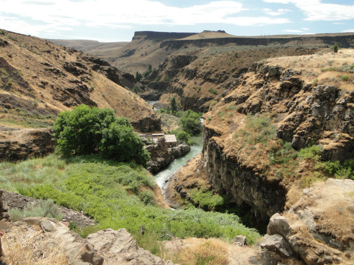 This stunning hidden gem is located south of The Dalles in the little-known White River Falls State Park.