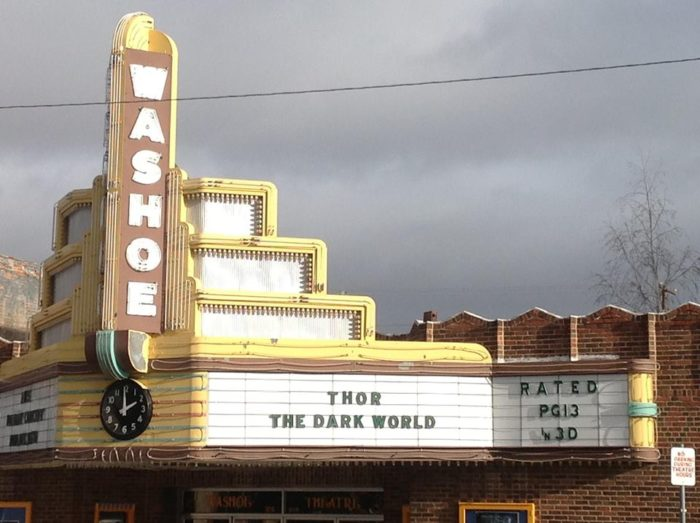 Check out the Washoe Theater at 305 Main Street, a Nuevo Deco Theater that dates back to 1936 (the opening was delayed due to the Great Depression).