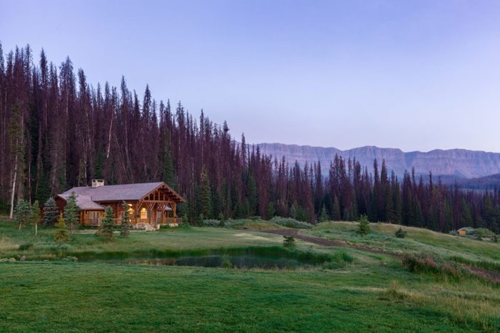 The Brooks Lake Lodge's Rocky Mountain Spa is nestled in a peaceful setting and consists of a hot tub, fitness center, dry sauna and tranquility room.