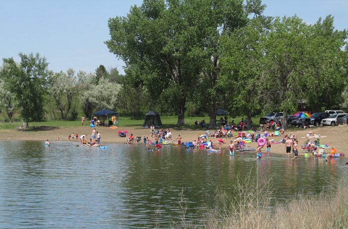 Beach-goers stay busy here all summer long. Lake Sakakawea has more coastline than the entire state of California!
