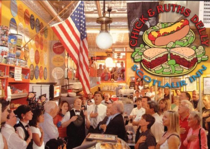 What people also love is that Chick & Ruth's is rich with tradition. They say the pledge of allegiance every single day, a ritual that has been going on since 1989.