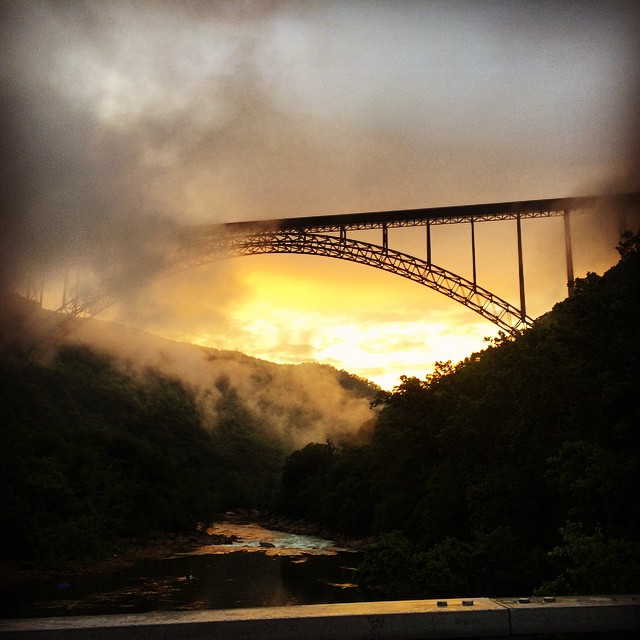 The New River Gorge Bridge is one of the most iconic images in West Virginia.