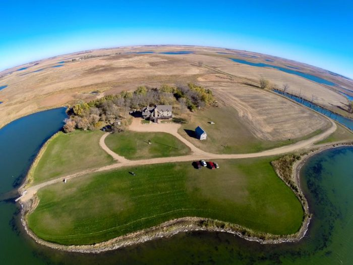 This gorgeous spot is located near Roslyn, South Dakota.