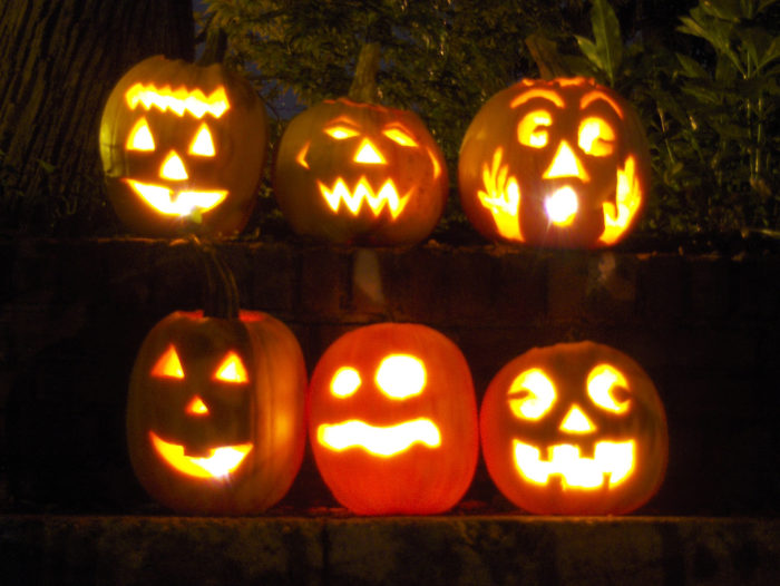 You'll float past more than 100 jack-o'-lanterns, lighting up the night with their whimsical/scary/creepy faces.
