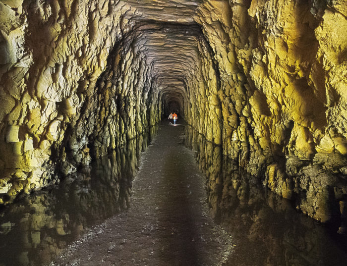 No trip to Walhalla would be complete without heading about six miles north of town to explore Stumphouse Mountain Tunnel. This time of year bring a jacket as well as your flashlight.