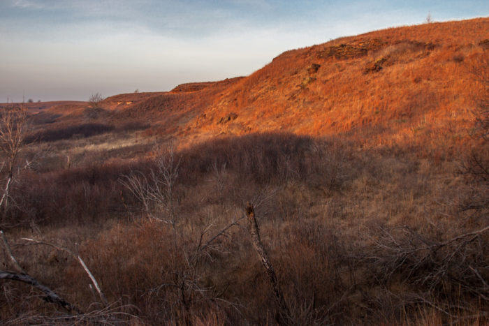 ...and scenic views of jagged canyons that you won't find anywhere else in Kansas.