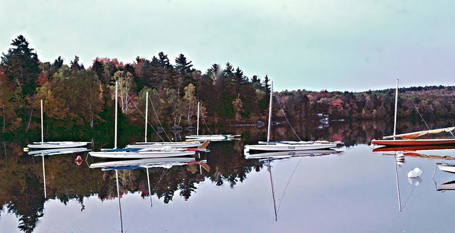 10. Little Lake Sunapee in New London during the fall of 1976.