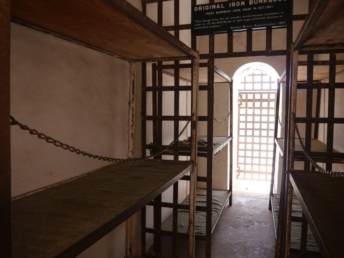 One spooky spot includes the main cell block area in cell number 14.