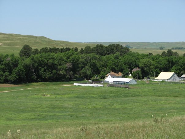 The ranch is tucked away in the rolling Sandhills.