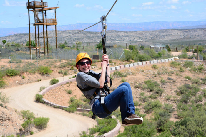The wildlife park has plenty of other ways to enjoy the area and interact with the animals while still getting a mild adrenaline rush. You can take a zipline through a portion of the park.