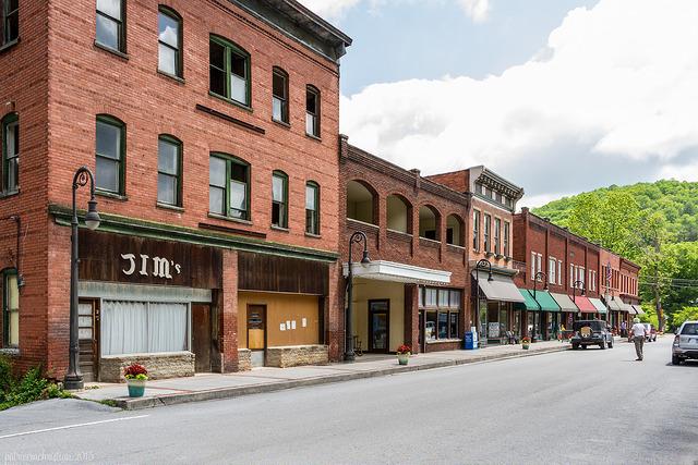 Bramwell is a little town in Mercer County along the Bluestone River.