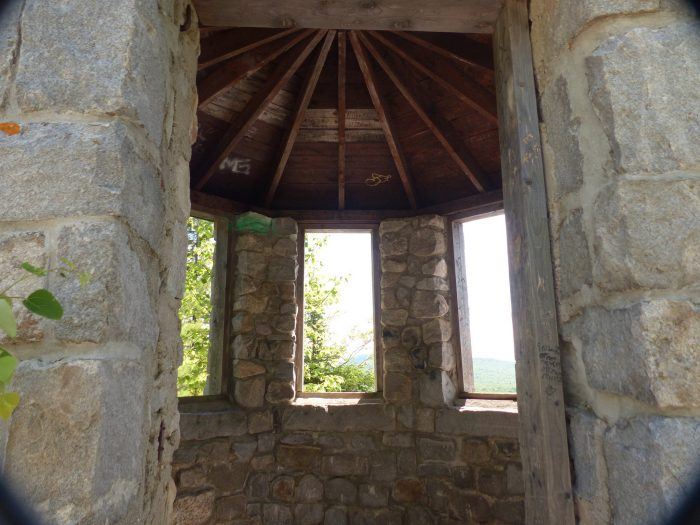 In the 1930s, the Civilian Conservation Corps (CCC) constructed the summit's stone fire tower, the trail and the picnic shelter at the trailhead.