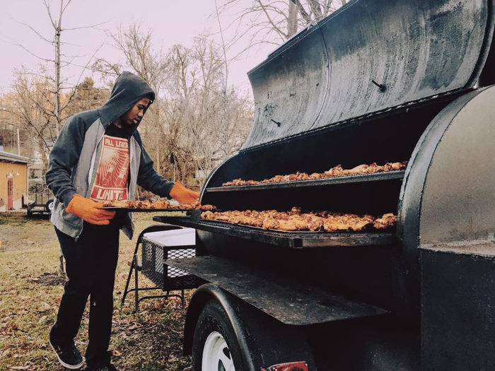 Hill and Holler is also popular for its wings, which are smoked right outside.