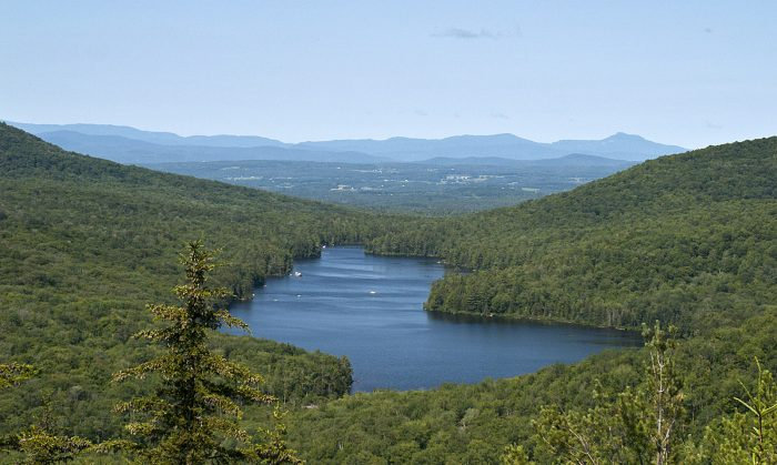 Once you get to the picnic shelter at the trailhead, take a moment to enjoy the view of kettle pond from the shelter.