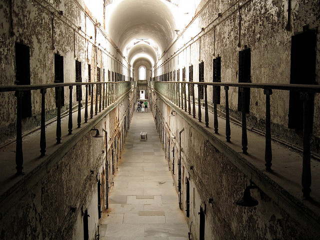 Arguably the prison's most famous inmate, Al Capone spent eight months in solitary confinement, during which time he claimed one of his murder victims began to haunt him. His story is now counted among the many tales of hauntings in Eastern State Penitentiary.