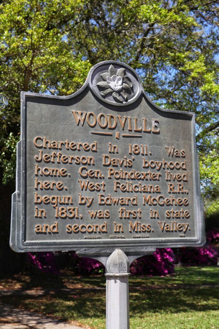 Loaded with history, Woodville was once the home of Edward McGehee, a successful businessman credited with starting the first railroad in Mississippi, as well as Jefferson Davis.