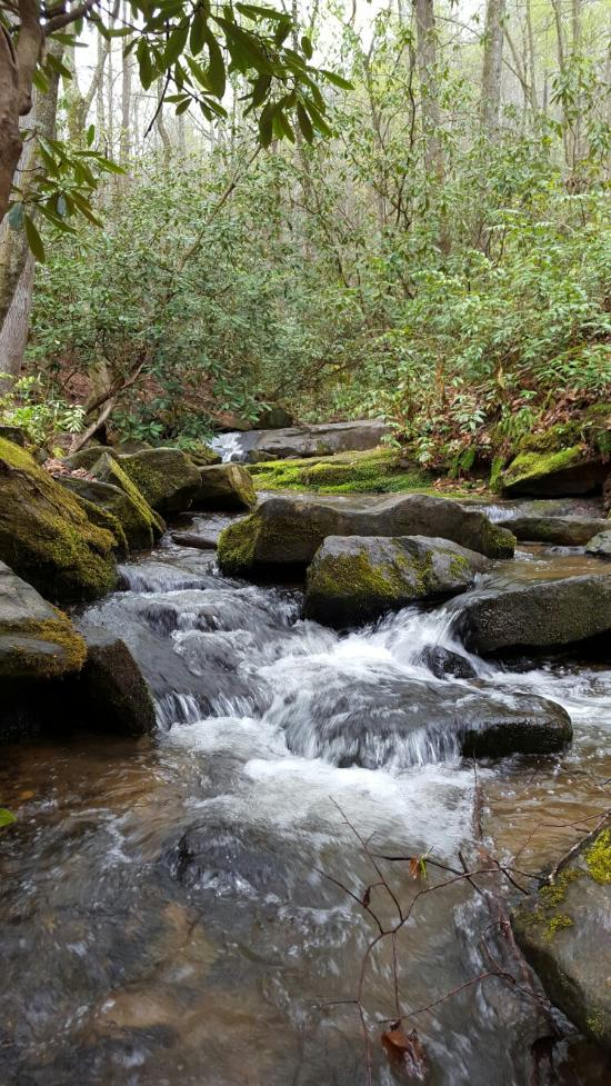 Wander, explore and enjoy the sounds of Little Gap Creek as she rushes under the 14-foot gothic archway.