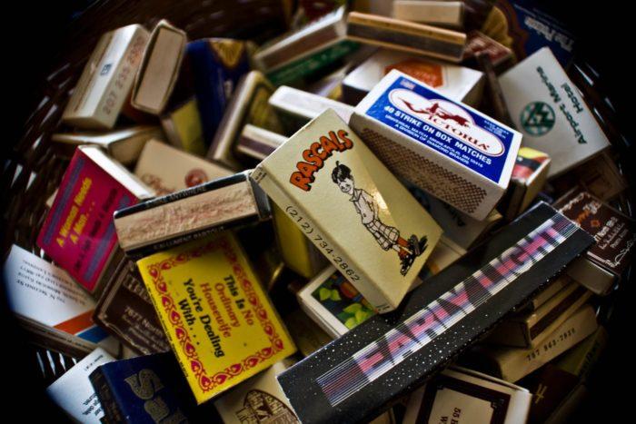 ...to vintage matchboxes.