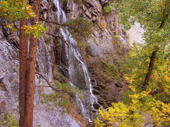 This includes beautiful waterfalls surrounded by the bright colors of fall.